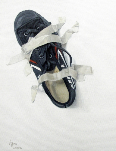 """Taped shoe"" 11x14 in"