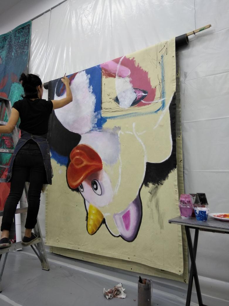 Painting at The WA